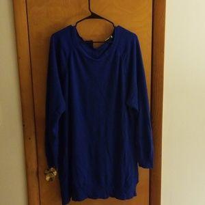 CJ Banks Blue Knit Tunic (size 2X)